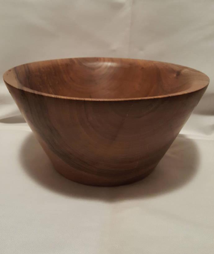 Handmade Walnut Wood Fruit Bowl , Decorative Bowl, Woodturning Bowl, Handmade