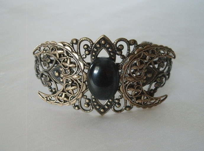 Triple Moon Cuff Bracelet