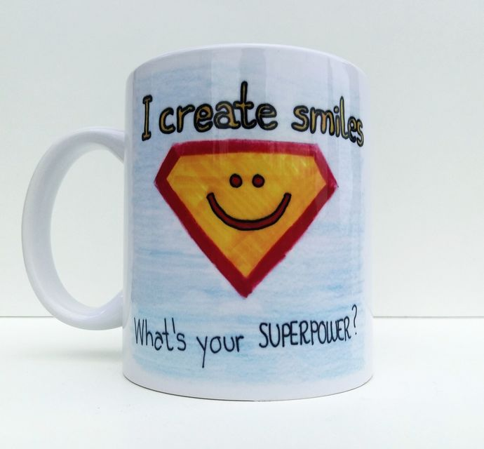 I Create Smiles Whats Your Superpower, Dentist Gift, Dental Mug, Coffee Mug, Tea
