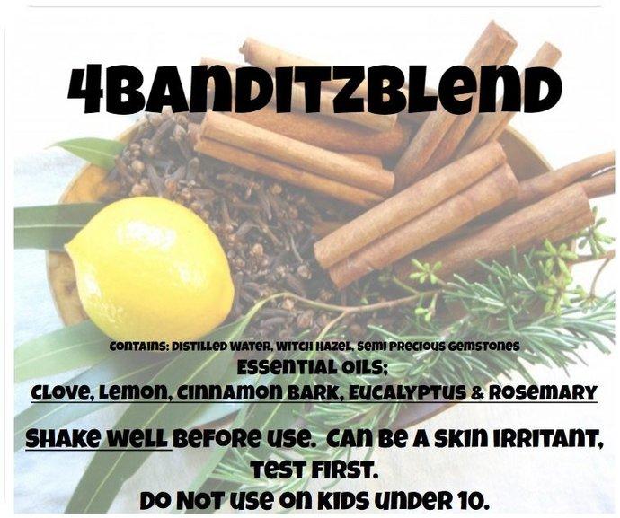 4Banditz Blend 4oz Spray with Clove, Lemon, Cinnamon Bark, Eucalyptus & Rosemary