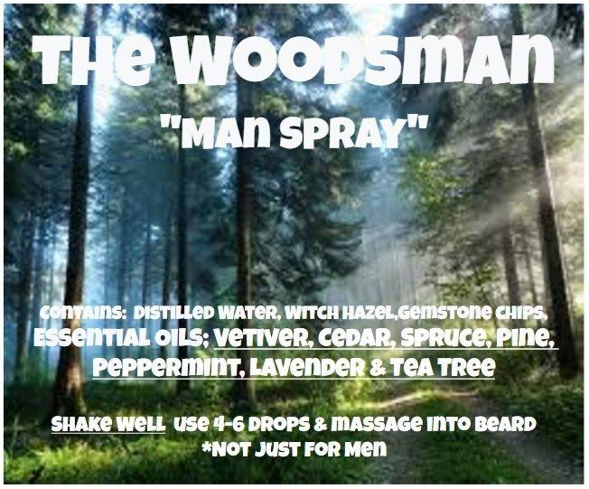 Woodsman Spray -Vetiver-Cedar-Spruce-Pine-Peppermint-Lavender-TeaTree - Fathers
