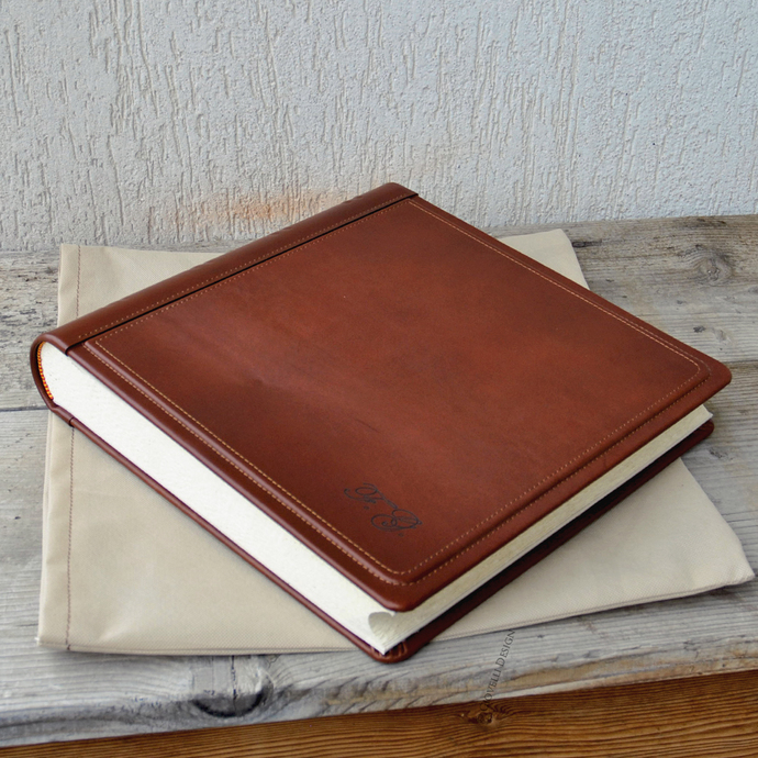 Initials Photo Album Personalized Leather By Giovellidesign On Zibbet