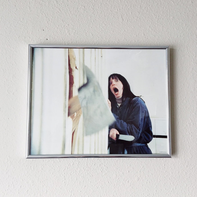 Vintage Film Still of The Shining in Chrome Frame 1980s Warner Brothers Movie