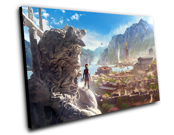 "Assassin's Creed Odyssey Game Canvas Print (8""x12"" or 12""x16"")"