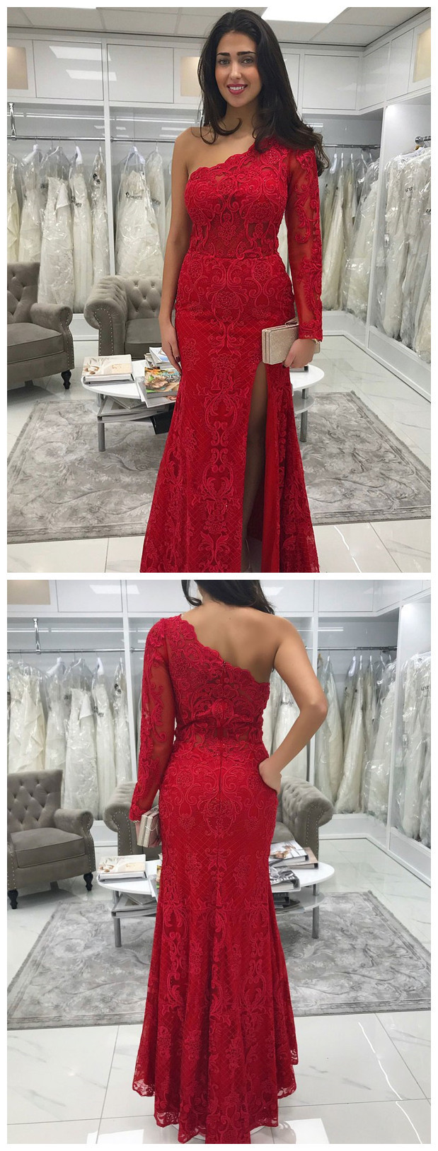 7276a71cafb One Shoulder Long Sleeve Evening Dresses - Data Dynamic AG