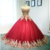 Gold Lace Embroidery Sweetheart Tulle Wedding Dresses Burgundy Ball Gowns For
