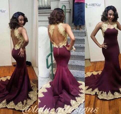 12326e2344 vestido longo burgundy prom dresses long sexy vestido de festa gold lace