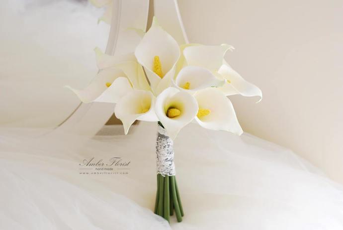 Bridal bouquet Wedding flowers Clay bouquet by AmberFlorist on Zibbet