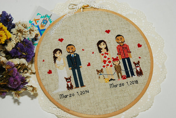 personalized family gift 4th wedding anniversary by xrestyk on zibbet