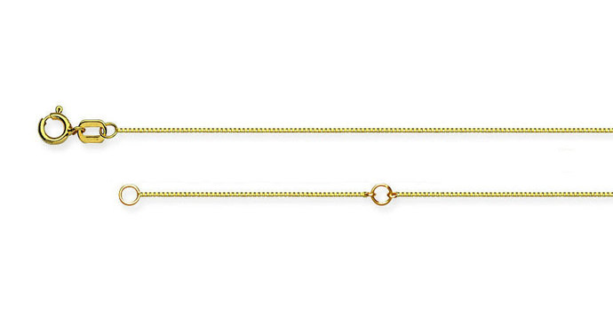 14K Yellow Gold Solid Box Chain