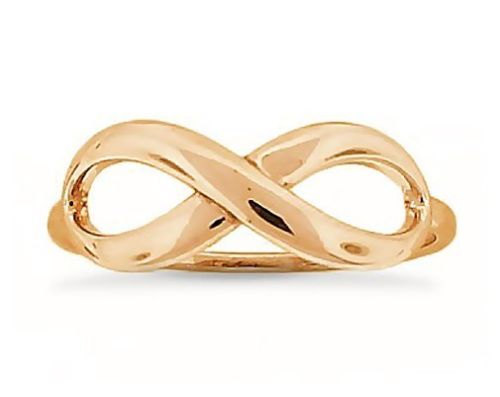 Infinity Ring Rose Gold Plated 925 By Jewelryrockbenchtop On Zibbet