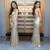 Gold Sequin Prom Dresses Mermaid Long Backless Evening Dresses Sleeveless V Neck