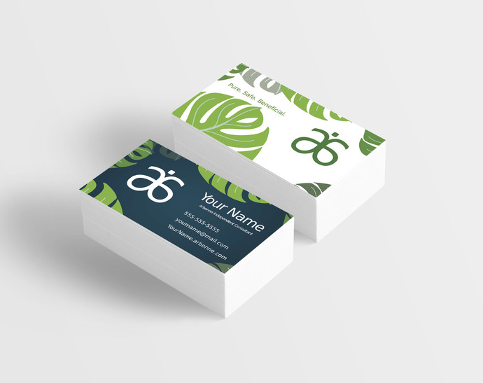 arbonne tropical leaves business card digital or printed