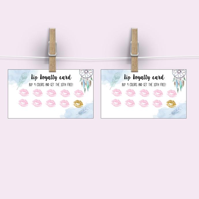 Lips Loyalty Card - Boho