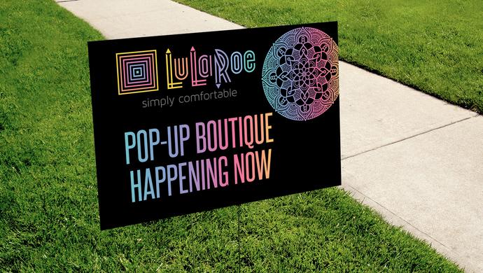 Pop-up Boutique Yard Sign - Digital - Rainbow Mandala