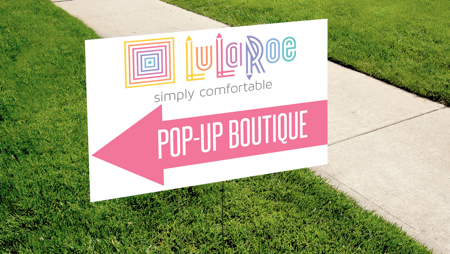 cf75f5788d1f6f Pop-up Boutique Yard Sign - Digital - Pink by okprintables on Zibbet