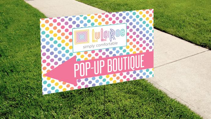 Pop-up Boutique Yard Sign - Digital - Dots