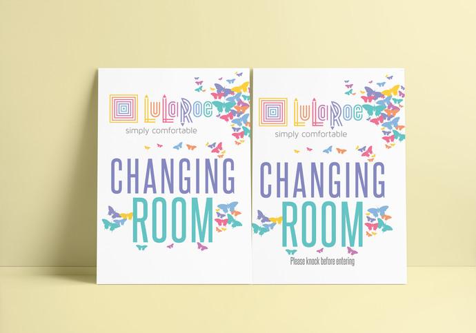 Lularoe Changing room Sign - Butterflies