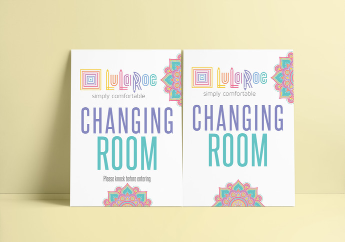 62f33175791e23 Lularoe Changing room Sign - Butterflies by okprintables on Zibbet