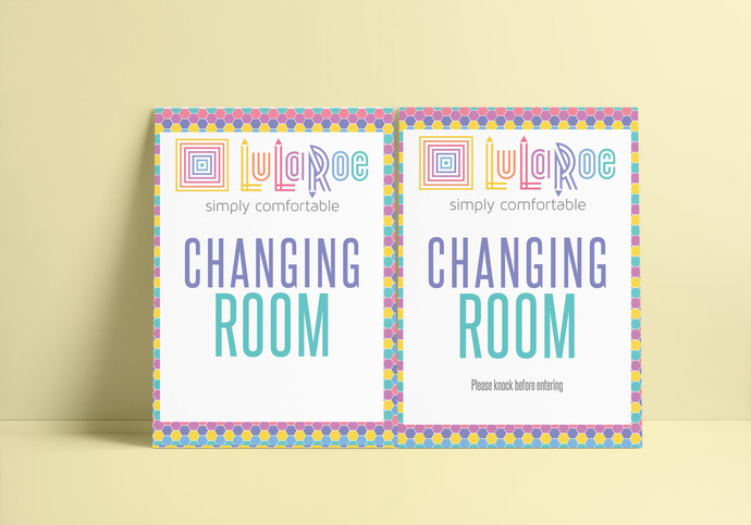 Lularoe Changing room Sign - Honeycomb