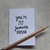 Mini Greetings Card-'You're My Favourite Human' Blank Inside. Valentines Day