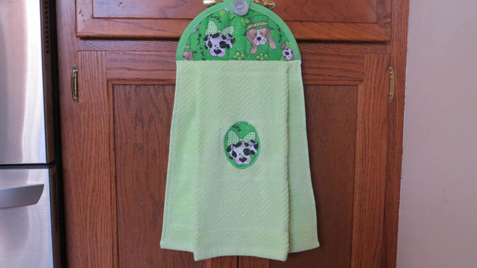 Hanging Kitchen Towel Saint Patrick S By Crystalscraftycorner On