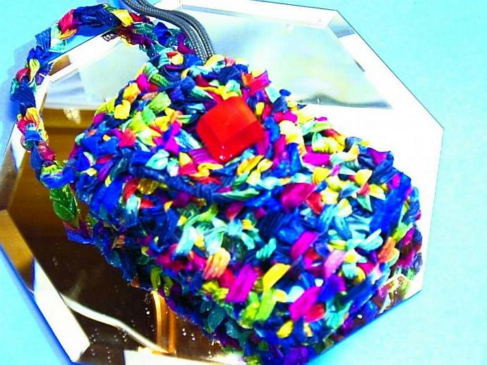 Trendy colorful ribbon cell phone, ipod, or camera cozy