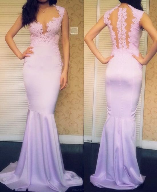 Sleeveless Pink Prom Evening Dresses Magnificent Long Mermaid/Trumpet Applique