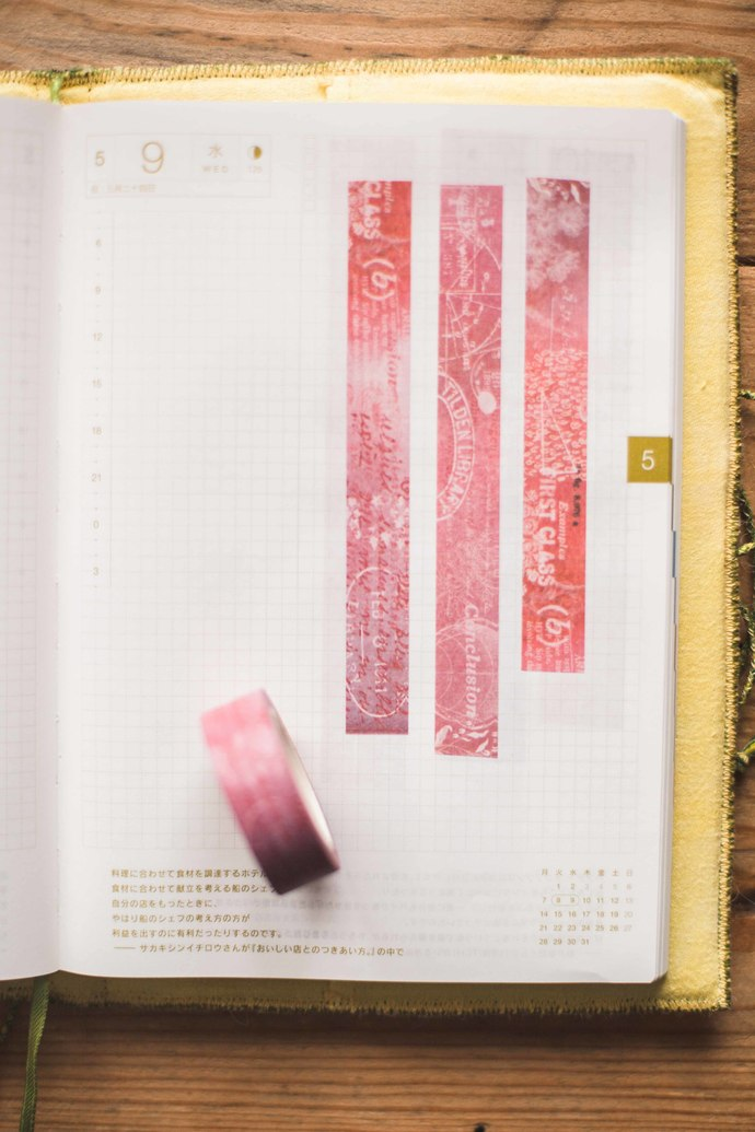 First Class - 1.5 cm wide washi tape 10m - perfect for Travelers Notebook