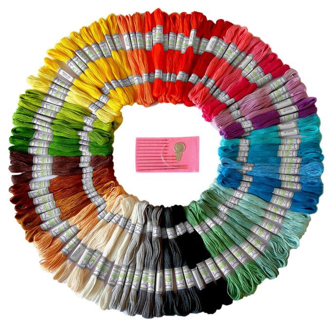 Premium Rainbow Color Embroidery Floss Cross Stitch Threads Friendship Bracelets