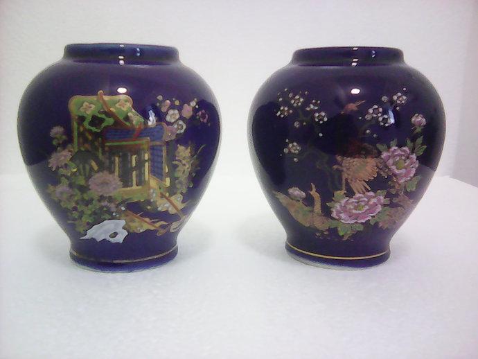 Small Japanese Kutani Vases Fuku Mark By Blakestreasuresgb On Zibbet