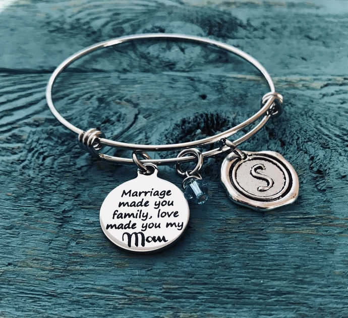 Marriage made, you family, love made you my Mom, Step Mom Jewelry, Mother in law