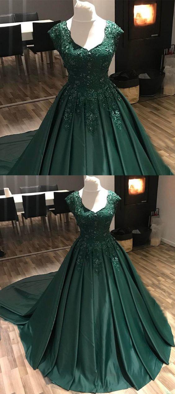 Dark Green Prom Dresses,Modest Prom by prom dresses on Zibbet