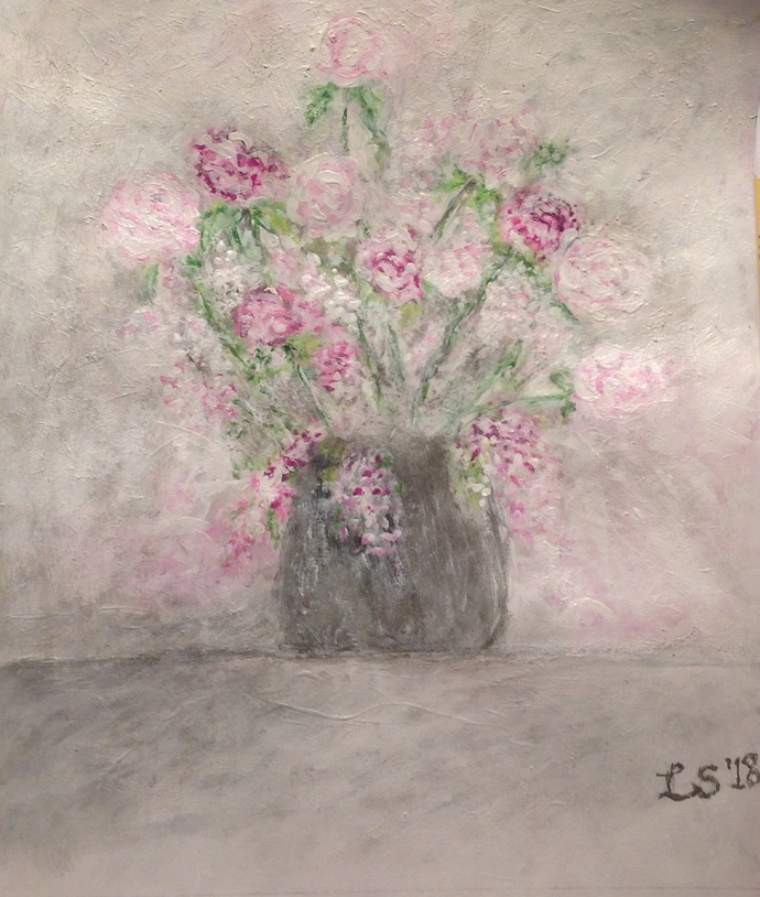 Floral Acrylic Painting