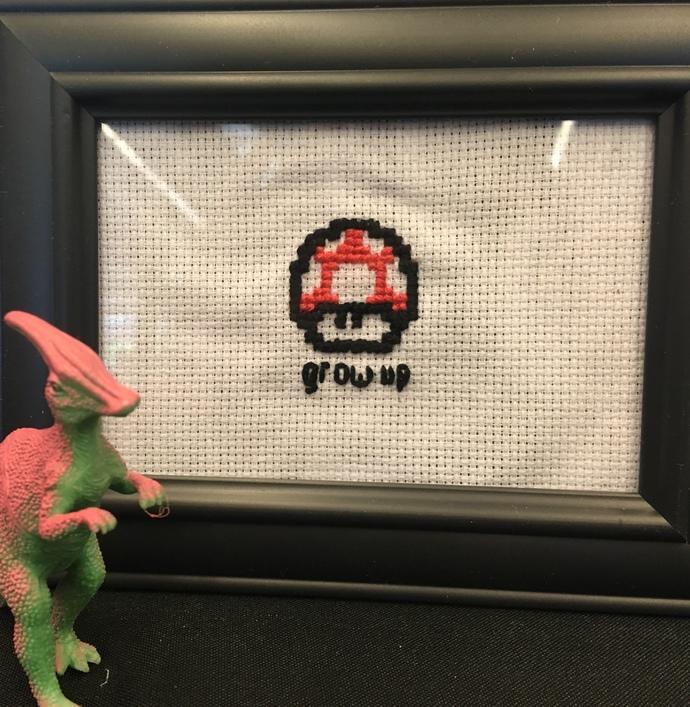 Grow Up - Cross Stitch Pixel Art