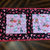 Handmade Modern Quilted Table Runner  Valentines and Puppies