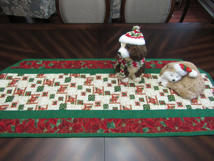 Handmade Christmas Table Runner 16 X By Crafty Cotton Patch On