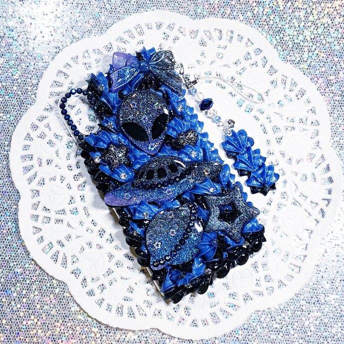 iPhone X / 10 Alien Galaxy Kawaii Creepy Cute Decoden Case