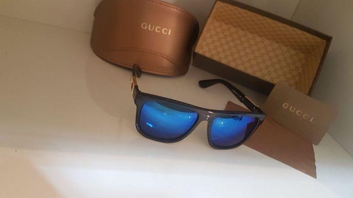 New Authentic Gucci SunGlasses For Men's Women Blue Mirror Honest Desing