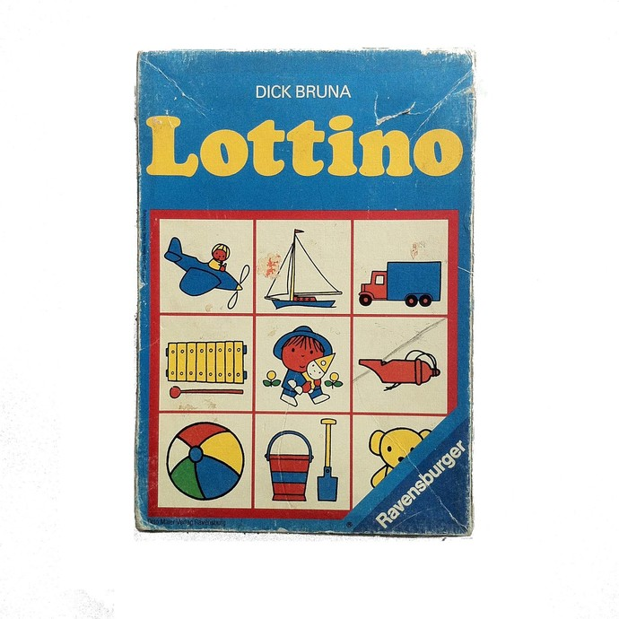 French vintage game, Lotto, bingo, littino Dick Bruna