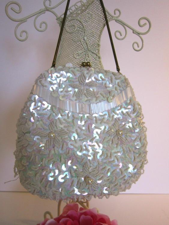 purse, vintage evening bag, beaded purse, vintage beaded handbag,party time bag,