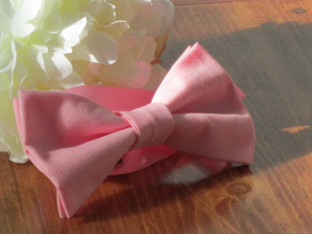 Bow tie, pink girls head piece,  Pink Bow Tie, wedding bow tie, party bow tie,