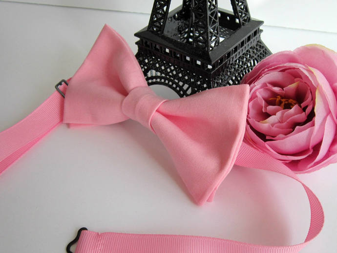Bow tie, pink girls head piece,  Pink Bow Tie, wedding bow tie, party bow tie,