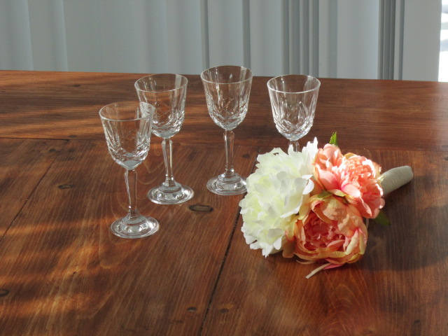 glasses,  liqueur glasses, after dinner glass, 4 in a set, bride groom gift,
