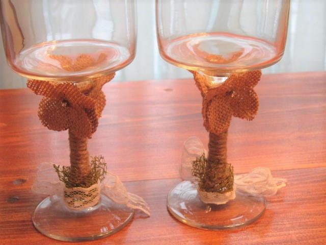 Anniversary glasses, toasting glasses, wedding glasses, rustic glasses,