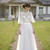 Sweetheart Lace Appliqués Tulle A-line Floor-Length Wedding Dress with Half
