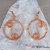 Copper Wire Hoop Earrings, Copper Wire Wrapped Hoop Earrings, Boho Earrings,