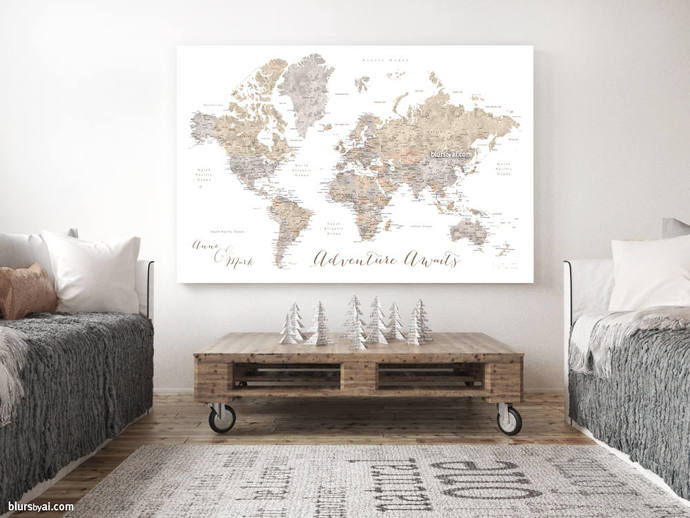 Personalized push pin world map anniversary by blursbyaishop on personalized push pin world map anniversary gift valentines gift husband gumiabroncs Image collections