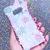 Galaxy s8 Korilakkuma Beach Summer Theme Pastel Pink and Blue Cute Kawaii