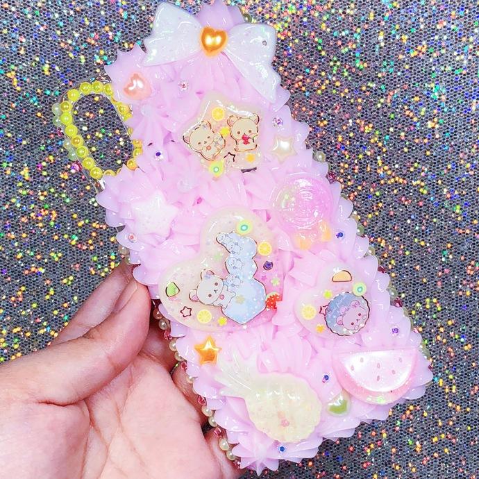 iPhone X / 10 Korilakkuma Citrus Summer Theme Pastel Pink and Yellow Cute Kawaii